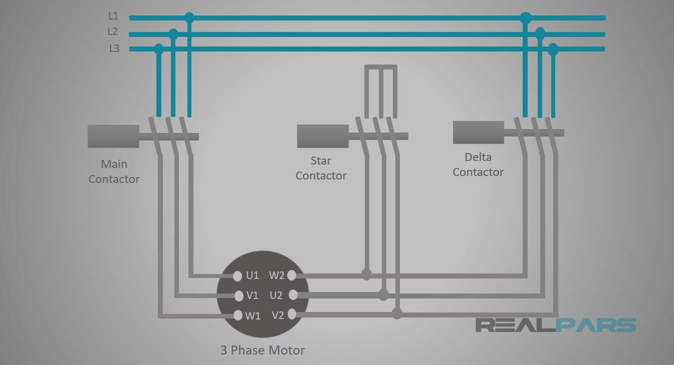 Star-Delta Starter PLC Program and Wiring - Part 5 on star sv32j basic wiring schematics, star delta switch, star delta starter connection, delta y wiring, delta and wye wiring, star control circuit wiring, star delta selecter, star connected motor, star delta diagram,