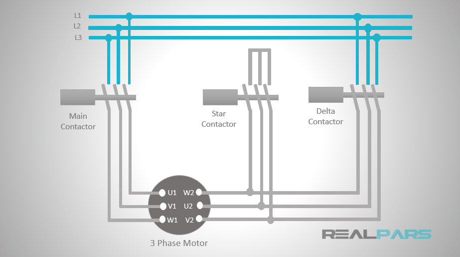Star Delta Starter PLC Program and Wiring - Part 1 on delta connection diagram, 3 phase 3 wire delta, 3 phase motor star delta connection, delta 3 phase bank diagram, 3 phase motor control diagrams,