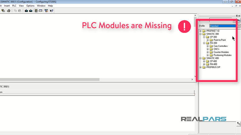 SOLVED – PLC Modules are Missing in the Hardware of STEP7 V5.6