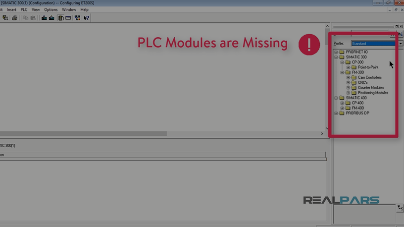 SOLVED - PLC Modules are Missing in the Hardware of STEP7 V5