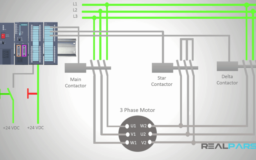 on 3 phase contactor control wiring