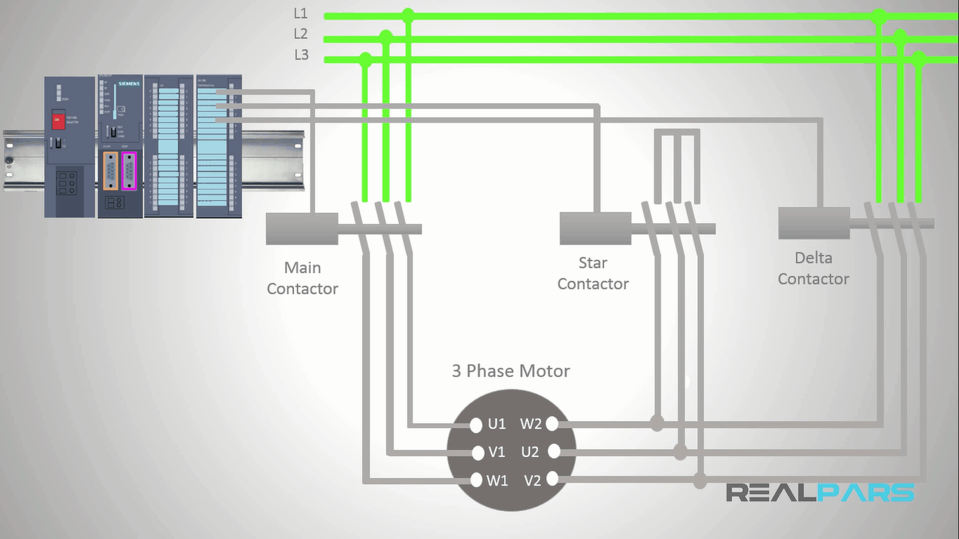 Star-delta Starter Plc Program And Wiring