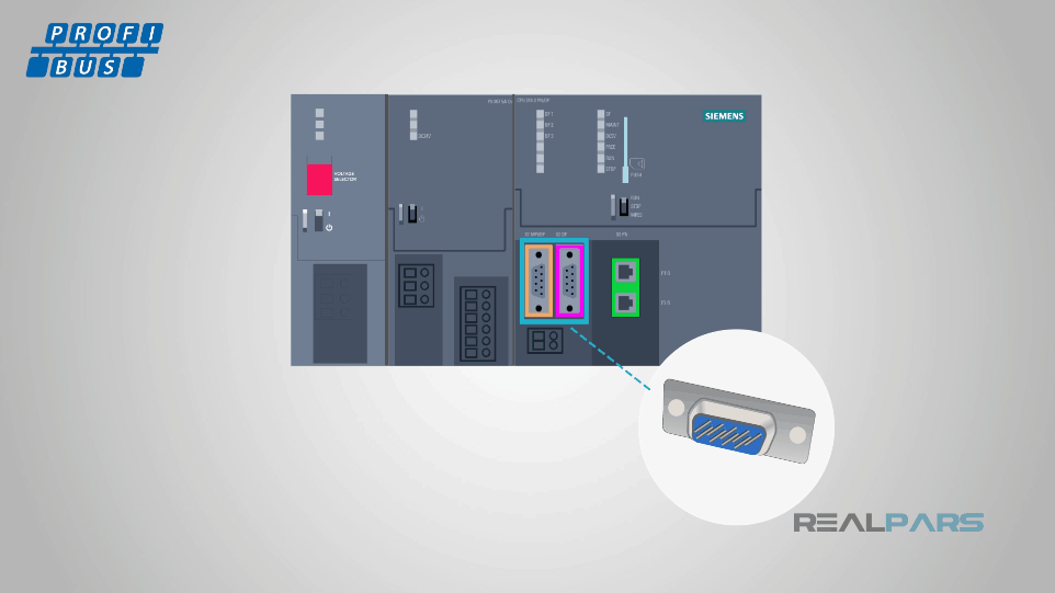a profibus connection port may look very familiar to you