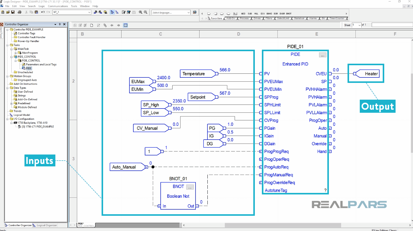How To Program A Basic Pid Loop In Controllogix