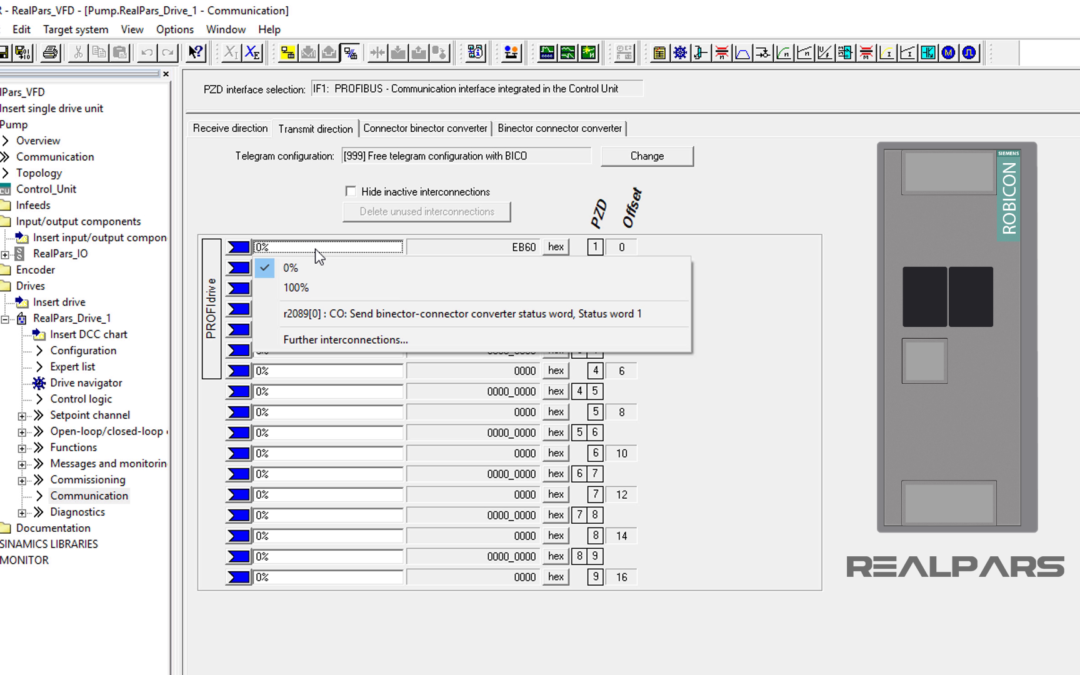 How to Control a VFD with a PLC – Part 5 (Configuring Communication Data in the Siemens Starter Software)