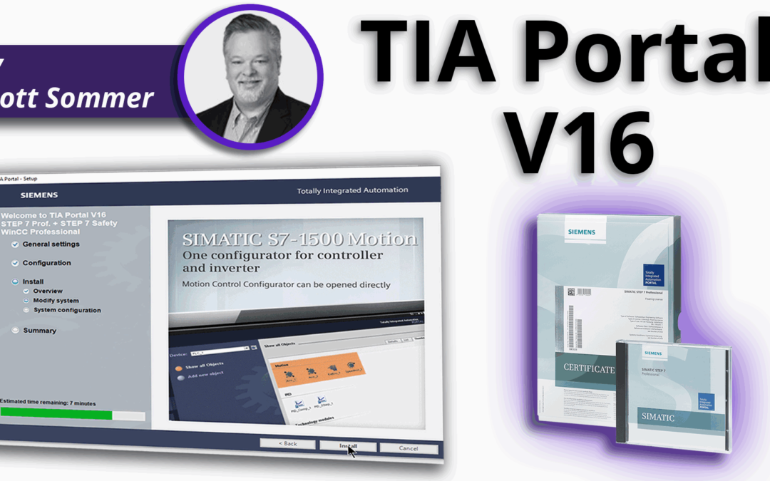 How to install TIA-Portal V16