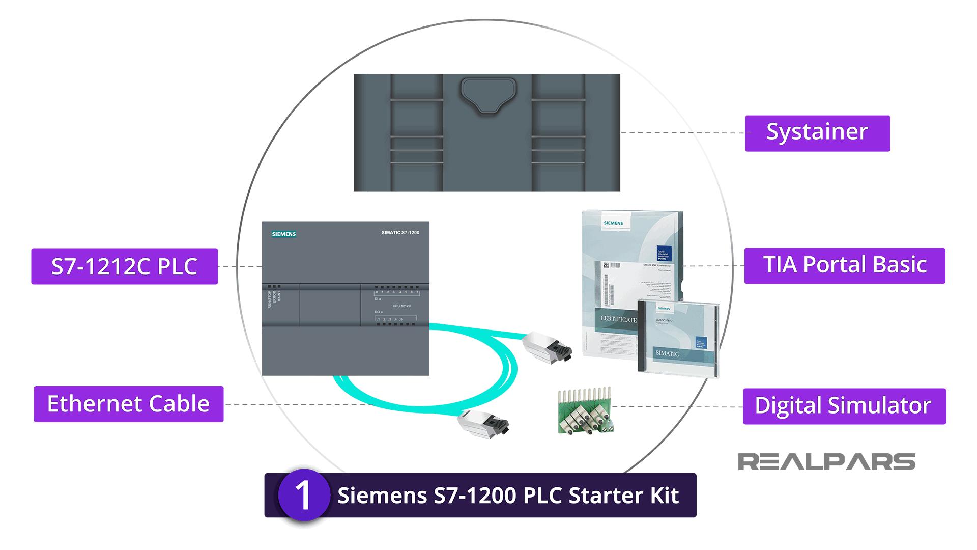 Siemens S7-1200 PLC starter kits Accessories