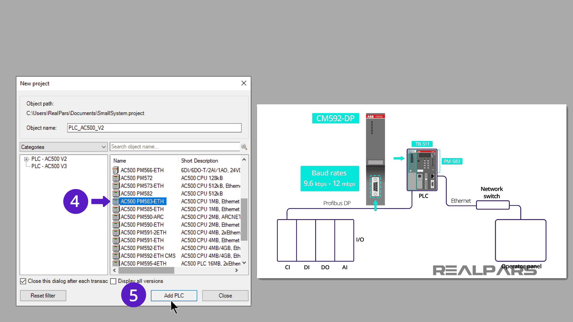 ABB PLC PM583 ETH