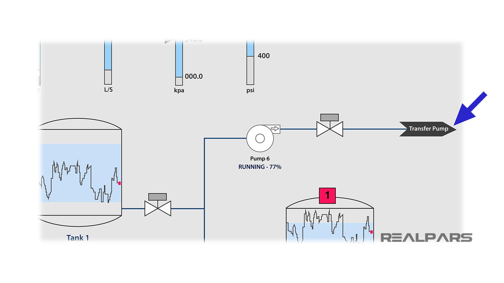 HMI navigation buttons