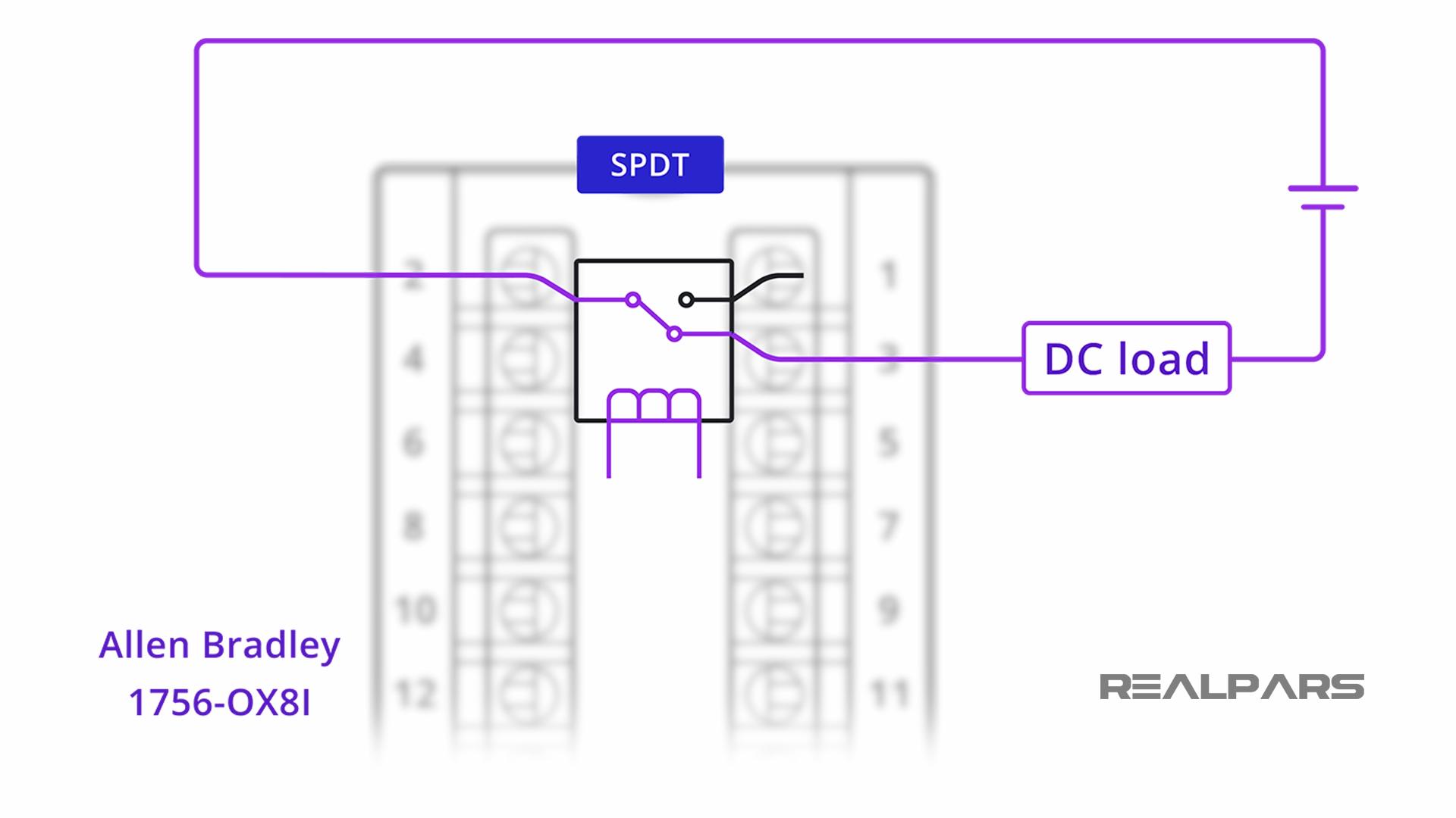 Single Pole Double Throw (SPDT) Relay
