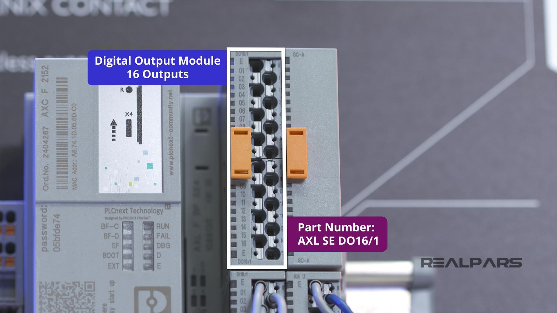 AXL SE DO16 1Digital Output Module