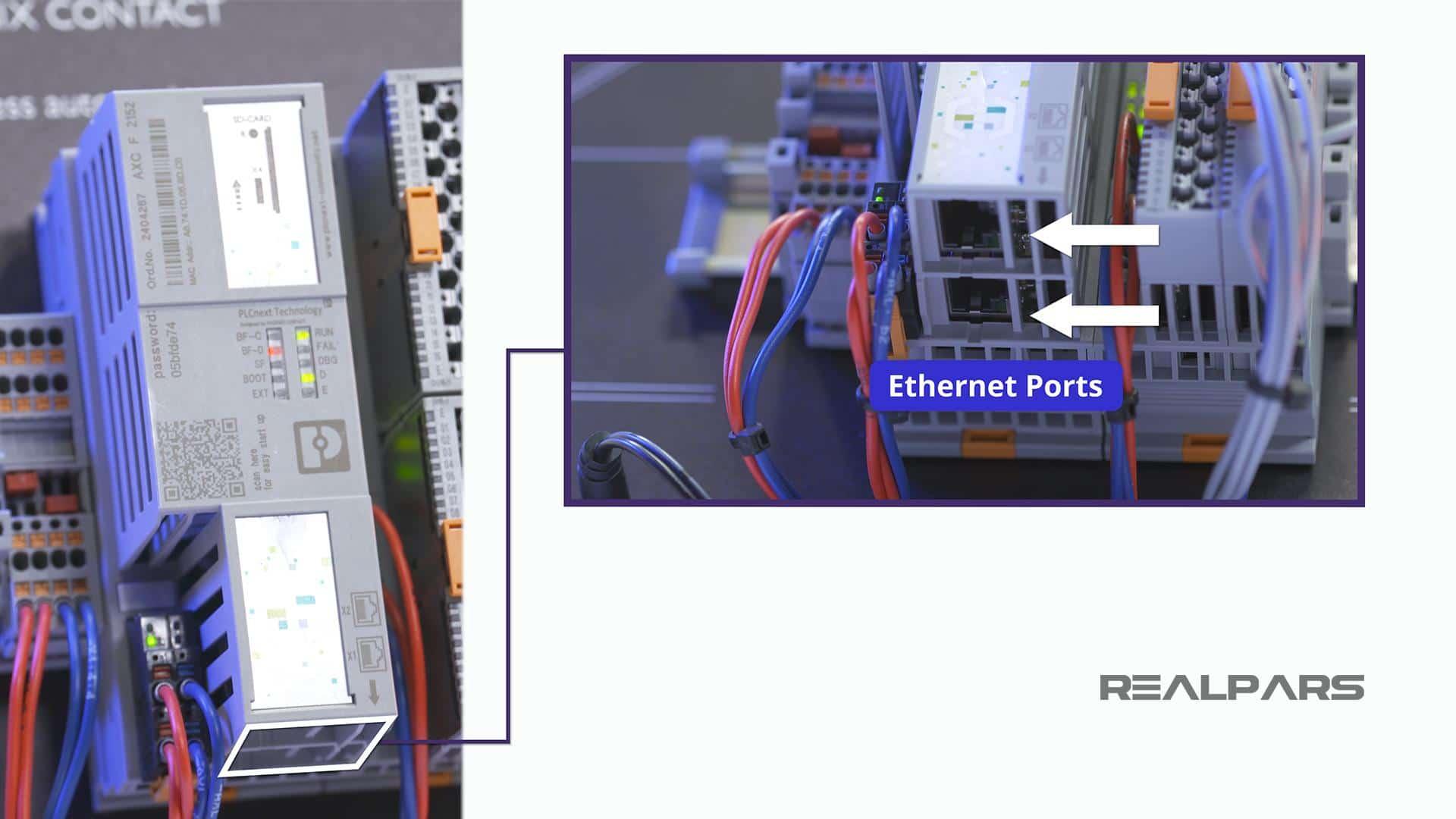 Controller Ethernet ports