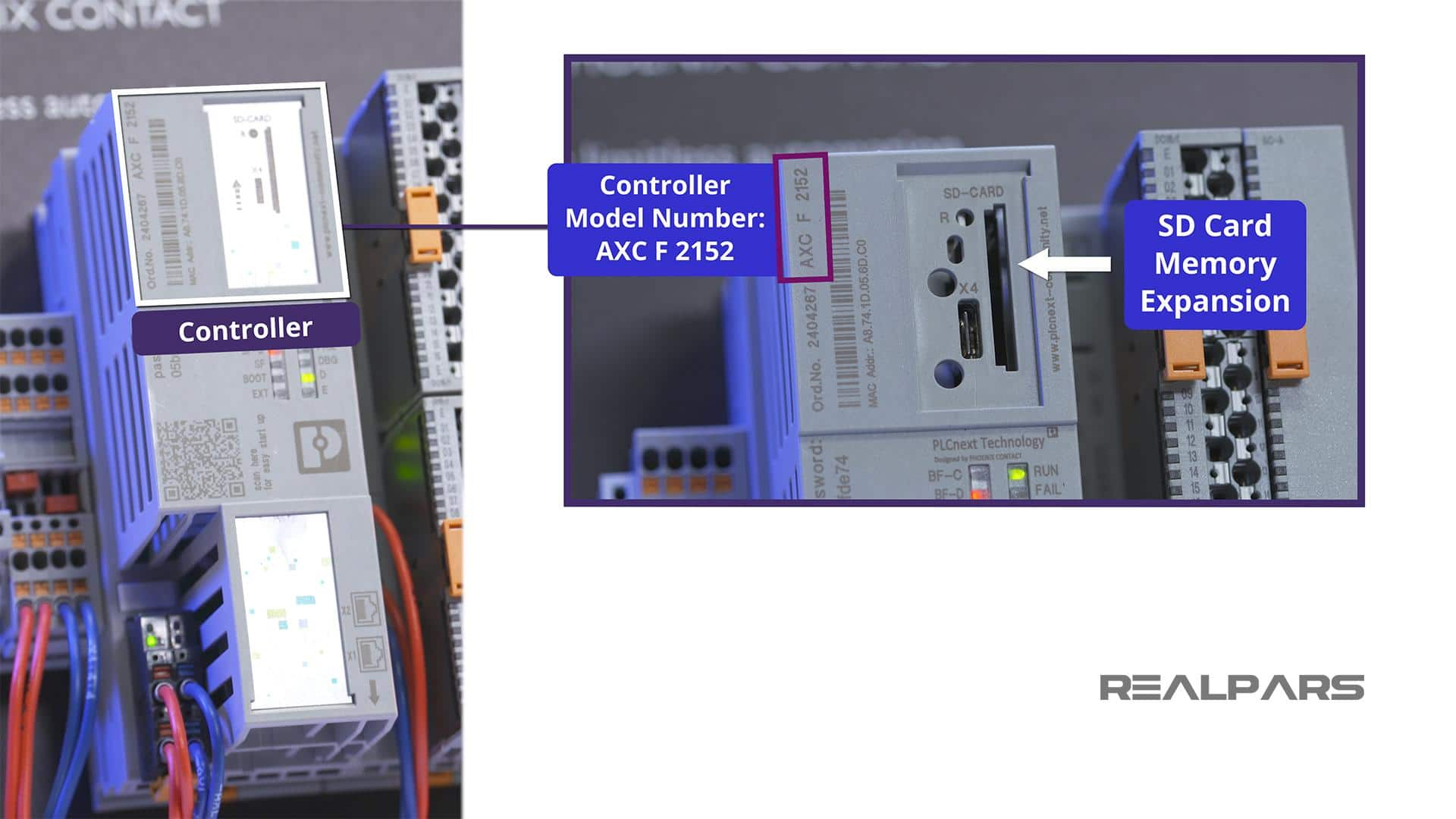 Controller Model and SD-CARD Expansion location