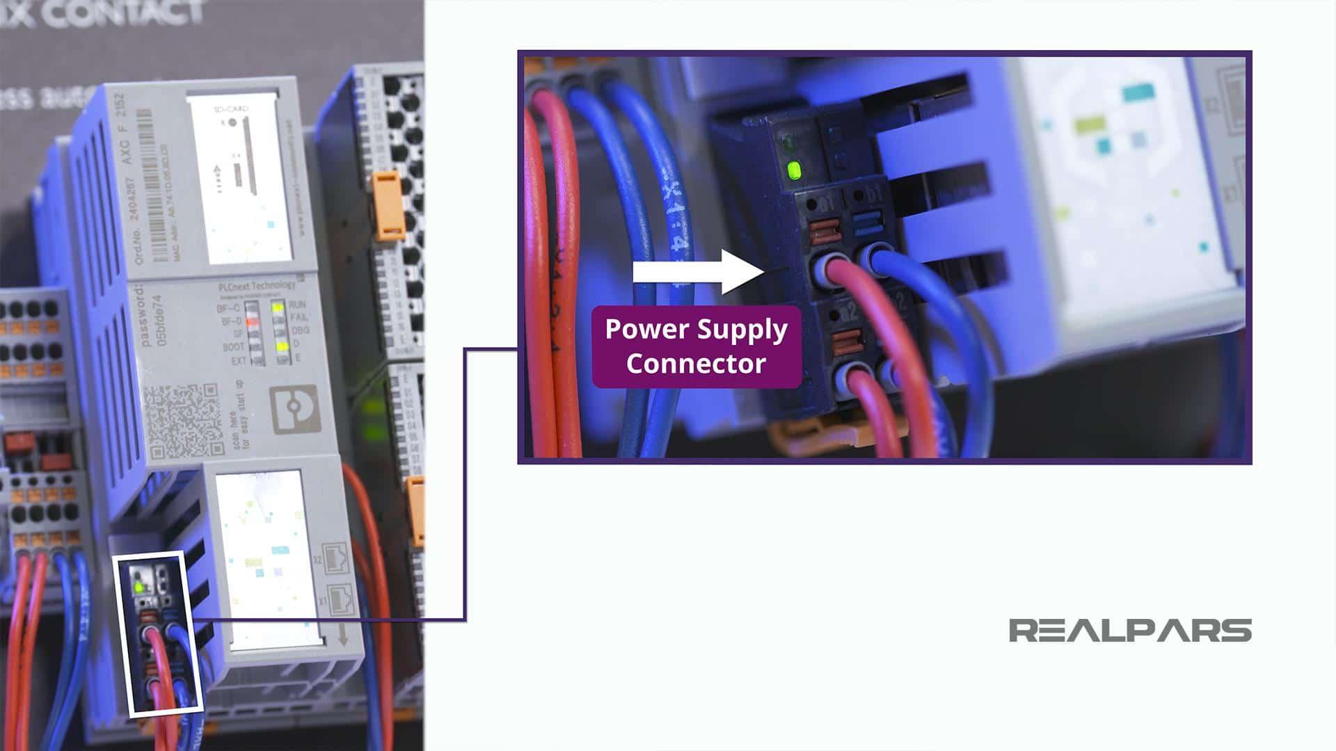 Controller Power Supply Connector