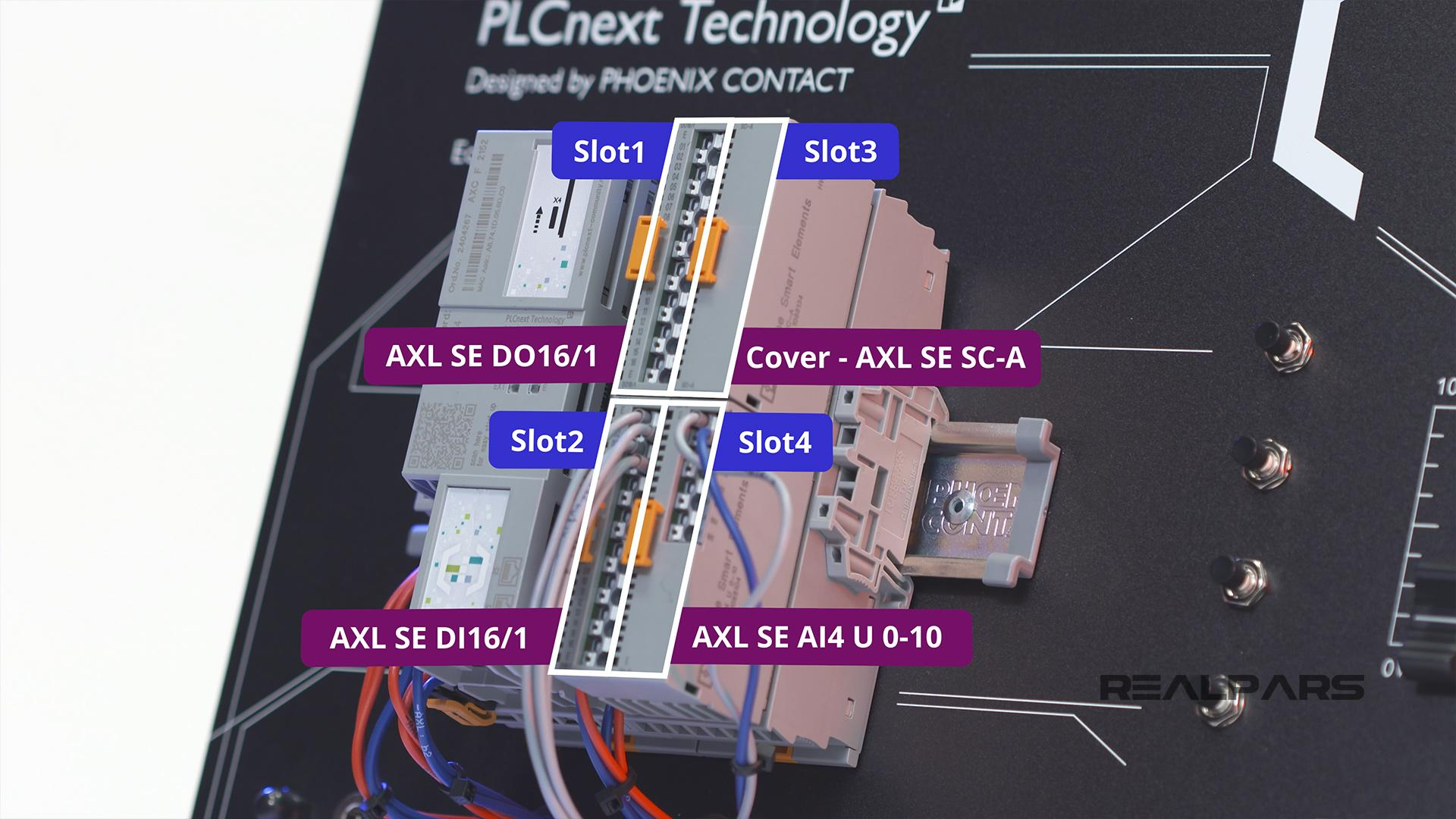 PLC slots