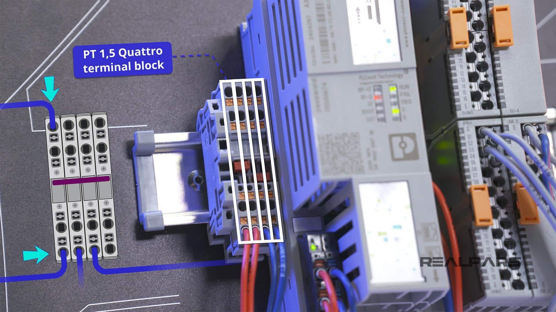 PT 1,5 Quattro terminal block