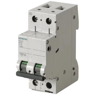 Miniature circuit breaker 400 V 10 kA, 2-pole, D, 50 A - 5SL4250-8