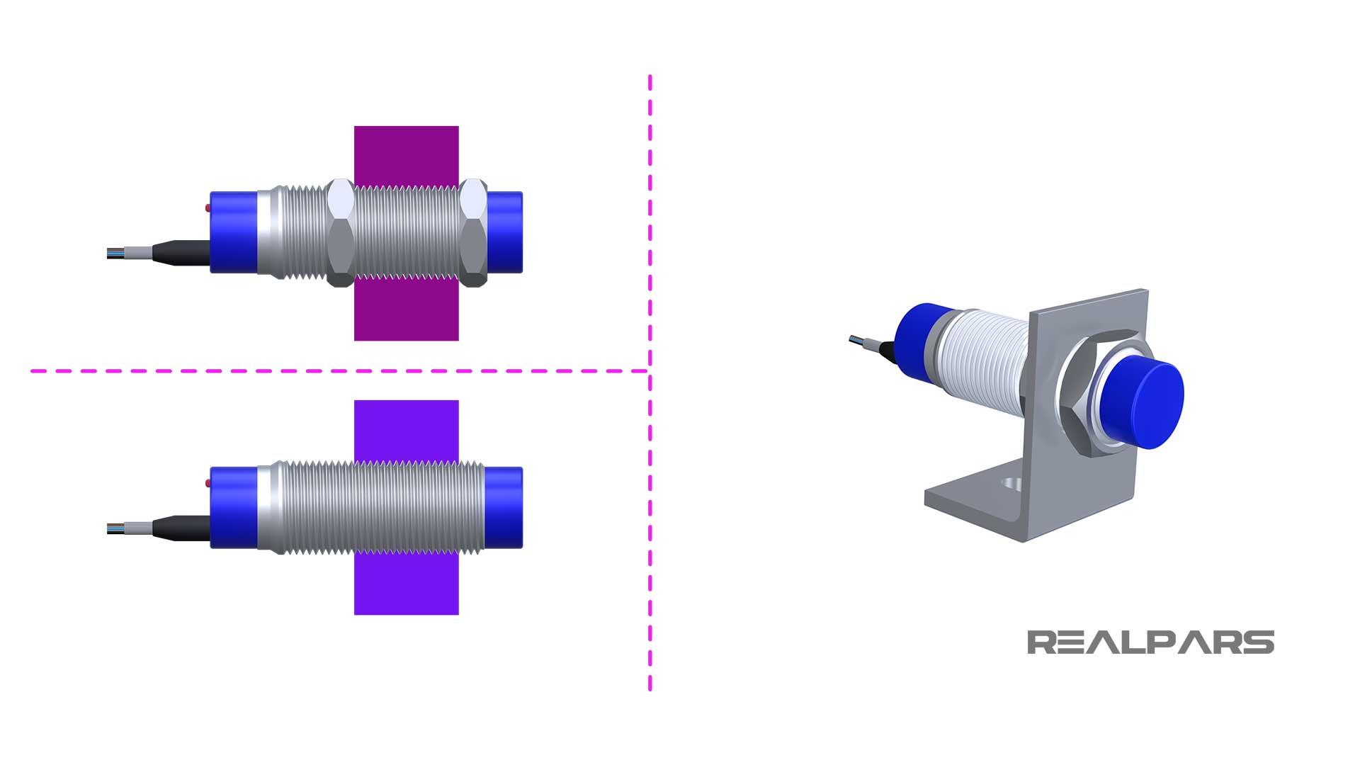Inductive-sensor-mounting