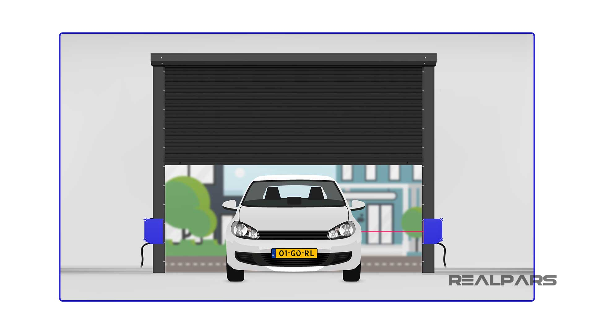 Photoelectric-Sensor-automatic-closing-door-application