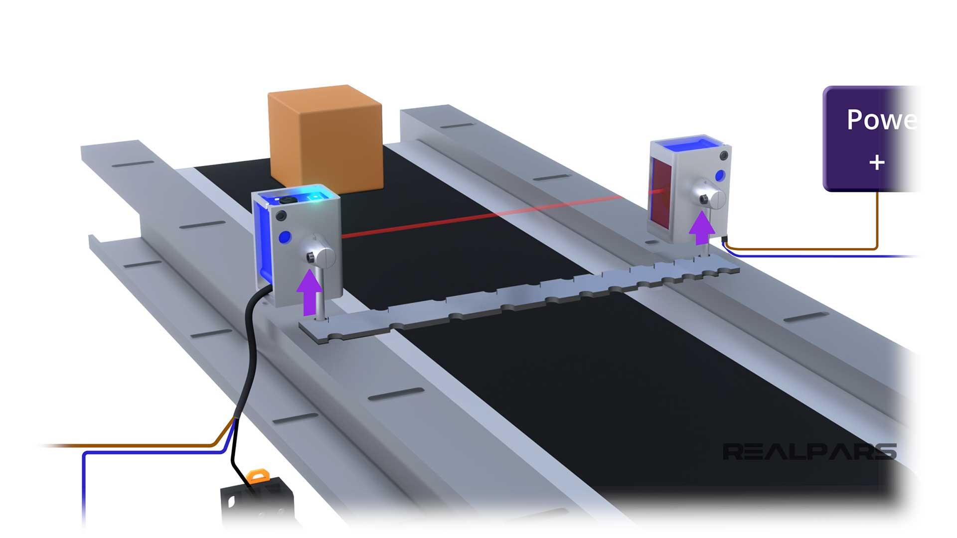 Adjust Through-Beam Sensors Using Straight Edge