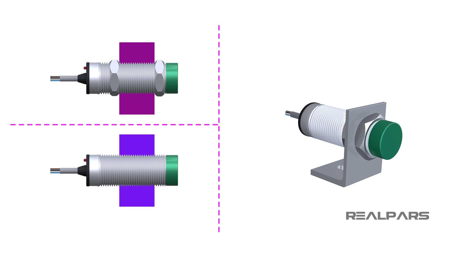 Capacitive-sensor-mounting