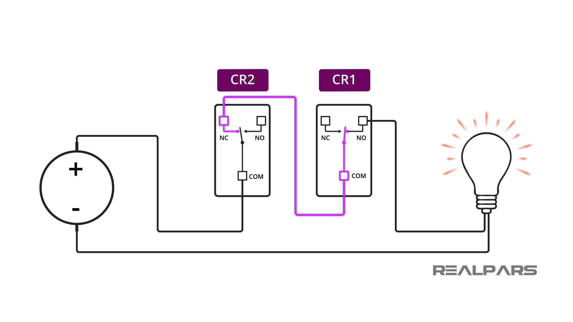 Electrical-interlock-using-Relays